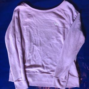 VS PINK Open Back Crew Sweatshirt Lavender/Lilac